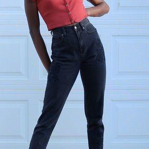 Black, Mom jeans